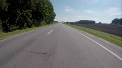 Driving on the highway near the forest Stock Footage