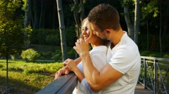 Lovers passionate embrace. Stock Footage
