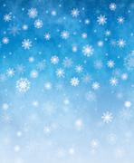 Falling snow christmas card. Winter abstract background illustration. - stock illustration