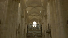Tilt view inside the Saint Michael Roman Catholic cathedral in Alba Iulia Stock Footage