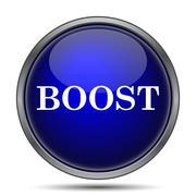 Boost icon. Internet button on white background.. Stock Illustration