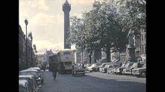 Vintage 16mm film, 1965, North Ireland, city traffic Stock Footage
