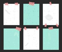 Christtmas greeting card vector banner isolated Stock Illustration