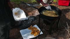 fish fry - stock footage