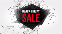 Black Friday Sales Motion Banner with Dots and Lines Stock Footage