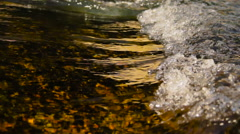 Gold river waves Stock Footage