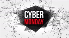 Cyber Monday Motion Banner with Dots and Lines Stock Footage