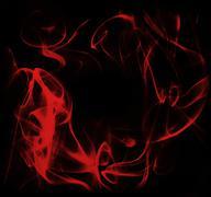 red  energy frame against dark background - stock photo