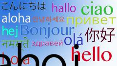Hello in Different languages 4K Stock Footage