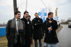 Moscow region, Russia - November 15, 2008. Politician Maria Gaidar, the - stock photo
