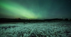 Aurora Borealis (Northern Lights) in the sky timelapse Stock Footage