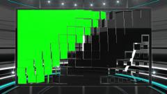 Green screen frame against futuristic dark neon background Stock Footage
