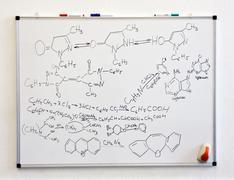 Chemistry science formulas Stock Photos