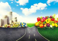 Healthy food of medicines Stock Illustration