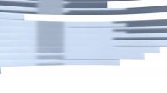 White glossy chrome bars moving across the screen - stock footage