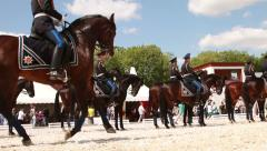 Russian military horse riding team. Stock Footage