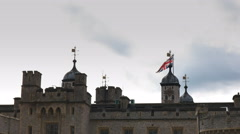 Close up of the historic tower of london Stock Footage
