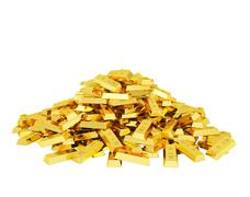 Heap of gold bars Stock Illustration