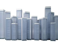Stock Illustration of Many modern buildings