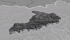 Baghlan - Afghanistan province extruded. Set of four animations Stock Footage