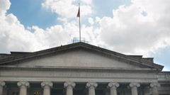 Stock Video Footage of close up of the exterior of the us treasury dept building, washinton dc