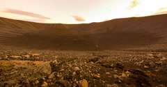 Mars crater sliding scene Stock Footage