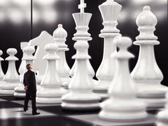 Match of chess Stock Photos