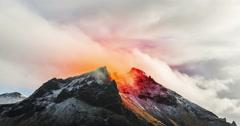Volcano erupting - stock footage
