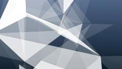 Abstract triangles geometric grey background Stock Footage