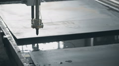 Machine CNC plasma cutting passes along the boundaries of the preform. Stage Stock Footage