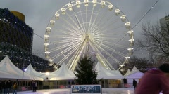 The Observation Wheel  Birmingham Uk Stock Footage