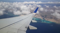 Take off from Aruba airport with Copa Airlines - stock footage