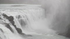 large waterfalls static camera - stock footage