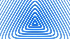 Triangular Geometric radial hypnotic background endless loop blue - stock footage