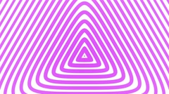 Triangular Geometric radial hypnotic background endless loop pink Stock Footage