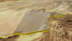 Kandahar - Afghanistan province extruded. Satellite - stock footage