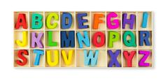 Stock Photo of Wooden alphabets