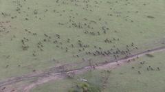 Ballooning over Maasai Mara National Reserve narko, Kenya. Stock Footage