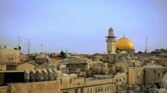 The Western Wall Mosque of Omar Stock Footage