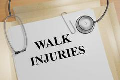 Stock Illustration of Walk Injuries concept
