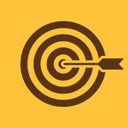 The target icon. Target symbol. Flat - stock illustration