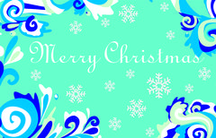 Christmas card with frosty patterns - stock illustration
