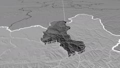 Takhar - Afghanistan province extruded. Set of four animations - stock footage