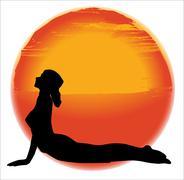 Bhujangasana Yoga Pose Stock Illustration