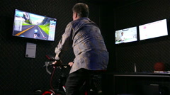 Wattbike - smart exercise bike that monitors the condition of the body. Stock Footage