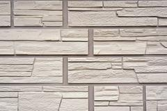 A decorative stone artificial covering. Look directly. - stock photo