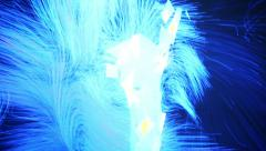 A new kind  of art, generative graphics. Interactive video installation. - stock footage