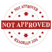 Seal not approved - stock illustration
