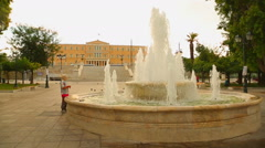 Syntagma Square in front of Greek Parliament, Athens culture and tourism center Stock Footage