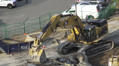 Excavator Removing a Dead Tree Stock Footage